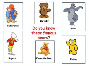 famous bears introduction